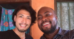 内藤さんとアフリカ人